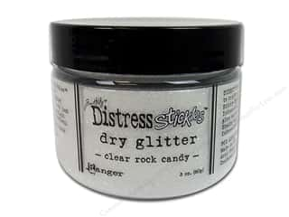 Scrapbooking & Paper Crafts Basic Components: Ranger Dry Glitter Tim Holtz Distress Stickles 3oz Clear Rock Candy