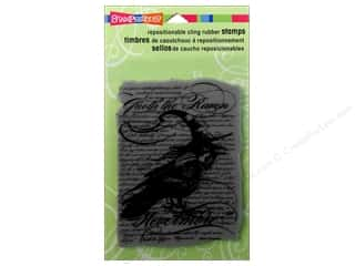 Stampendous Cling Rubber Stamp Hall Raven Bkground