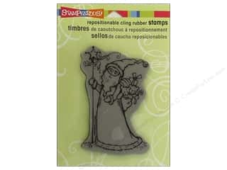 Holiday Sale Stampendous Cling Rubber Stamp: Stampendous Cling Rubber Stamp Star Santa