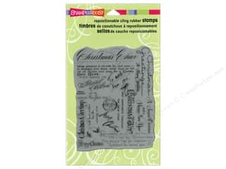 Holiday Sale Stampendous Cling Rubber Stamp: Stampendous Cling Rubber Stamp Christmas Bkground