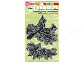Holiday Sale Stampendous Cling Rubber Stamp: Stampendous Cling Rubber Stamp Jumbo Cardinals