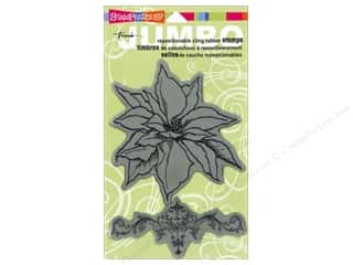 Stampendous Cling Rubber Stamp Jumbo Poinsettia