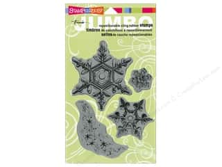 Stampendous Cling Rubber Stamp Jumbo Snow