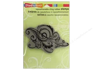 Stampendous Cling Rubber Stamp Hall Fall Tendril