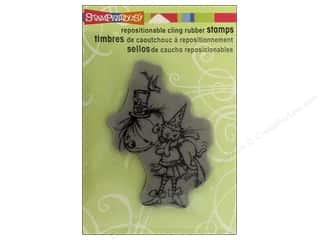 Stampendous Cling Rubber Stamp Hall Punkin Kitty