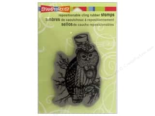 Stampendous Cling Rubber Stamp Hall Steampunk Owl