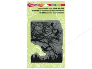 Stampendous Cling Rubber Stamp Hall Crowscape