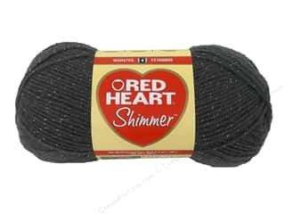 shimmer yarn: Red Heart Shimmer Yarn 3.5 oz. Pewter