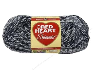 Red Heart Shimmer Yarn 3.5 oz. Zebra