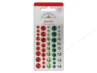 Doodlebug Sticker Large Jewels Christmas Assorted