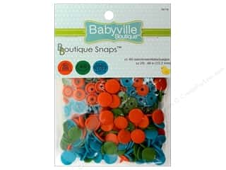 Babyville by Prym/Dritz Green: Dritz Babyville Boutique Snaps 1/2 in. Robots 60 pc.