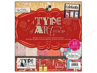 2013 Crafties - Best Scrapbooking Supply DieCuts Paper Stacks: Die Cuts 12 x 12 in. Paper Stack A Type of Art
