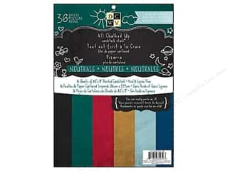 Chalk $6 - $8: Die Cuts With A View 8 1/2 x 11 in. Cardstock Stack All Chalked Up Neutrals