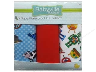 Babyville PUL Fabric 3 pc. Cowbaby & Robots