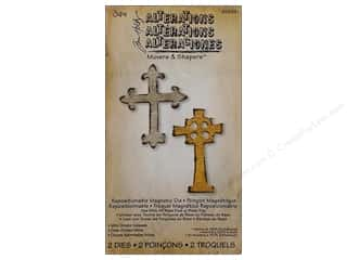 Sizzix Movers & Shapers Magnetic Die Set 2PK Mini Ornate Crosses