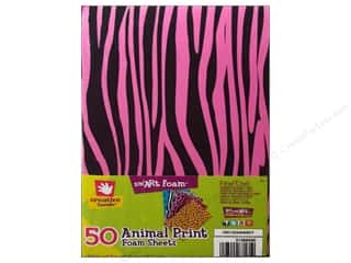 Fibre-Craft Foam 5.5x8.5 Animal Print Multi 50pc