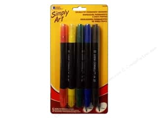 Loew Cornell Blue: Loew Cornell Simply Art Markers Double Tip 5pc