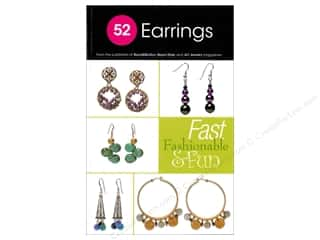 Beading & Jewelry Making Supplies New Year's Resolution Sale: Kalmbach 52 Earrings Book