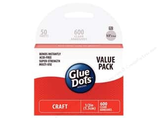 Glues/Adhesives inches: Glue Dots Value Pack Craft 1/2 in. 600 pc.