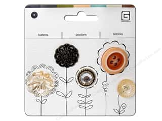 BasicGrey Heirloom Buttons 5 pc. Assorted Marmalade