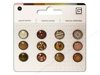 BasicGrey Buttons Glazed 13mm Truffle 12pc