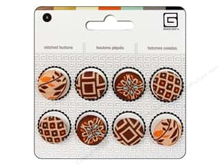 BasicGrey Buttons Stitched 17mm Truffle 8pc