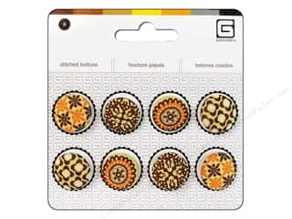 BasicGrey Stitched Buttons 11/16 in. Buttercup 8 pc.