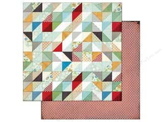 BasicGrey Paper 12x12 Clippings Handmade Quilt (25 piece)