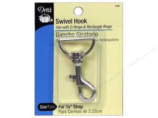 Purse Making Hardware: Swivel Hook by Dritz For 7/8 in. Strap Nickel
