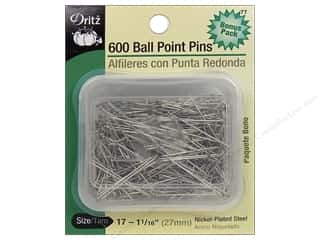 Dritz Pins Ball Point Size 17 Steel 600pc