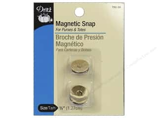 Dritz Magnetic Snap 1/2&quot; Gold 2pc