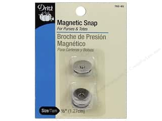 Purses: Magnetic Snaps by Dritz 1/2 in. Nickel 2 pc.
