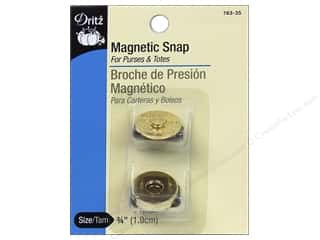 Purse Making Hardware: Magnetic Snaps by Dritz 3/4 in. Gilt 2 pc.