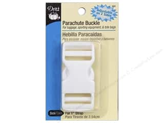 "Dritz Buckle Parachute For 1"" Strap Double Adjustable White"