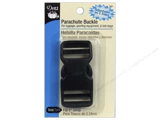 "Dritz Buckle Parachute For 1"" Strap Double Adjustable Black"