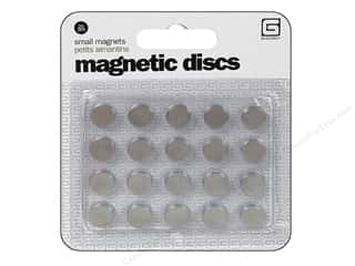 BasicGrey Magnetic Discs Snaps Small 10pc