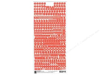 BasicGrey Sticker Basics Micro Monogram Red