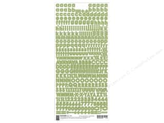 BasicGrey Sticker Basics Micro Monogram Green