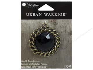 Charms and Pendants Black: Blue Moon Beads Metal & Plastic Pendants Urban Warrior Black Rhinestone