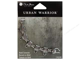 Blue Moon Beads: Blue Moon Beads Metal Connector Urban Warrior Antique Silver Focal with 5 Loops