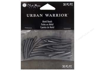 Blue Moon Beads Urban Warrior Metal Tube Curve Black Nickel