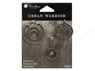 Blue Moon Charm UrbanWarrior Mtl RndAncient OxSlvr