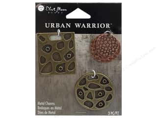 Blue Moon Beads Charms and Pendants: Blue Moon Beads Metal Charms Square/Round Disk 3pc Copper/Brass