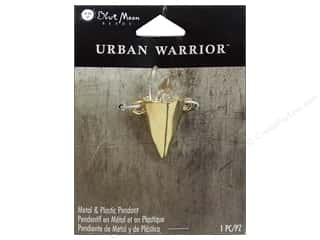 Plastics Blue: Blue Moon Metal & Plastic Pendant Urban Warrior Gold Cone with Crystals