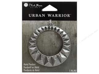 Blue Moon Beads: Blue Moon Beads Metal Pendants Urban Warrior Oxidized Silver Open Round