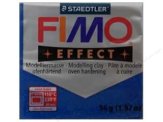 Glitter Blue: Fimo Soft Clay 56gm Glitter Blue