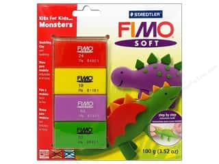 Clay & Modeling Projects & Kits: Fimo Soft Clay Kits Monsters