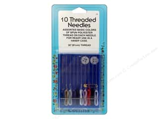 Collins Needles, Pullers, Cases & Threaders: 10 Needles Threaded by Collins 13 pc.