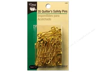 Dritz Safety Pins Quilter's Size 2 Brass 35pc