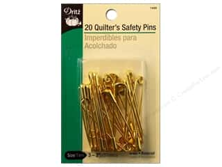 Dritz Safety Pins Quilter's Size 3 Brass 20pc